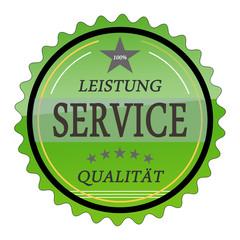 ql26 QualityLabel - Leistung Service Qualität - grün g1801