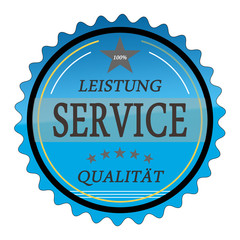 ql27 QualityLabel - Leistung Service Qualität - blau g1802