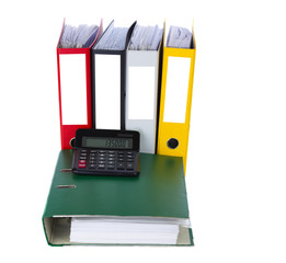 Folder with calculator