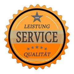 ql28 QualityLabel - Leistung Service Qualität - orange g1803