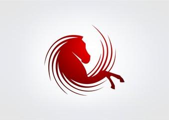 business horse logo Vector