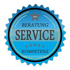 ql31 QualityLabel - Beratung Service Kompetenz - blau g1806