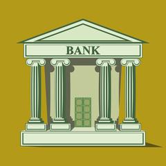 Flat bank icon.