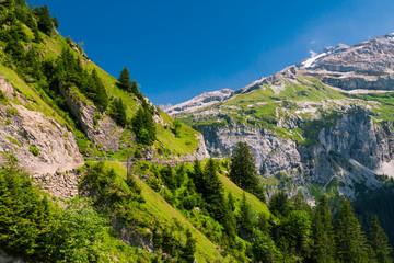 Mountain road in Klausen Pass, Switzerland