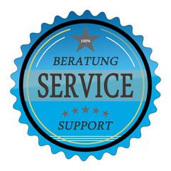 ql35 QualityLabel - Beratung Service Support - blau g1810