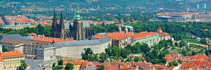 view on the  Prague hrad Czech Republic
