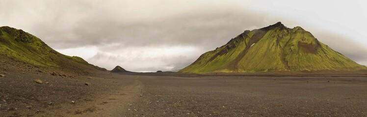 Iceland - lanscape along  track Laugavegur