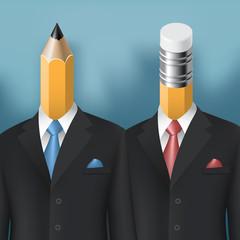 pencil and eraser men