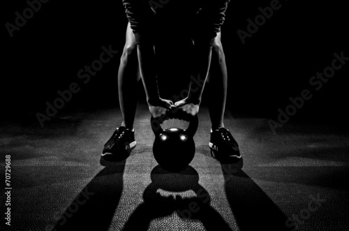 Female Kettle Bell Lift - 70729688
