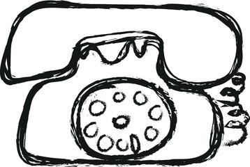 telephone doodle charcoal