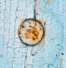 old wooden background with blue paint