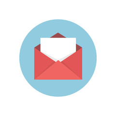 Flat modern vector icon: mail.
