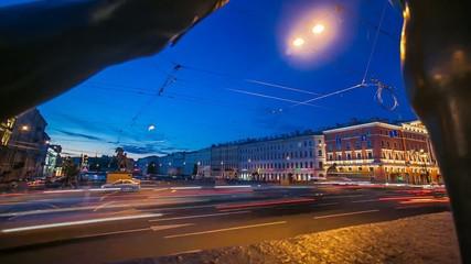 Anichkov Bridge St. Petersburg Time Lapse