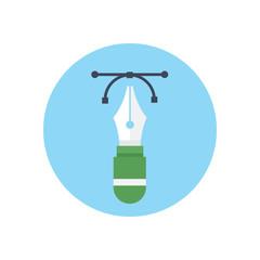 Flat modern vector icon: vector pen tool .