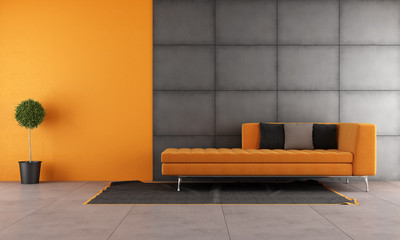 Black and orange living room