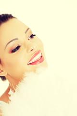 Beautiful young woman portrait,