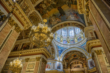 Interior of Saint Isaac's Cathedral in St. Petersburg