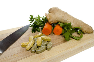 vitamins knife and vegis