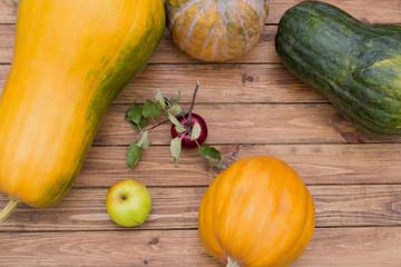 pumpkin and apple