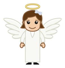 Angel Girl - Vector Character Cartoon Illustration