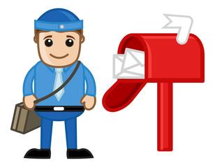 Postman - Vector Character Cartoon Illustration