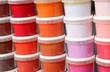 canvas print picture - gestaptelte Farbtöpfe