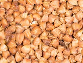 background of buckwheat. close-up