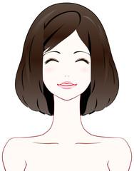 美容 あおり 笑顔