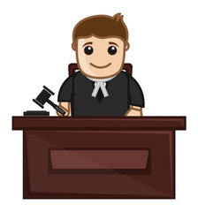 Judge - Vector Character Cartoon Illustration