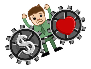 Love and Money - Vector Illustration