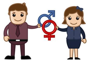Sex Symbol - Vector Cartoon Illustration