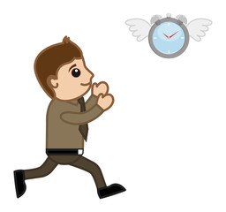 Time Flying Away - Vector Illustration