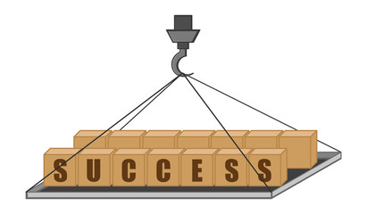 Success Concept - Vector Illustration