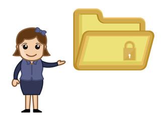 Folder Security Concept - Vector Illustration