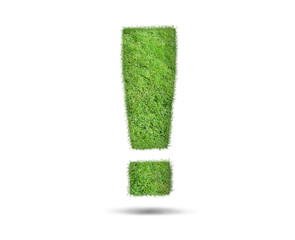 Green Exclamation mark made from grass