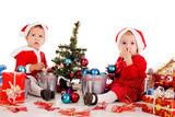 two little santa