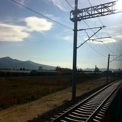 Railway and mountains