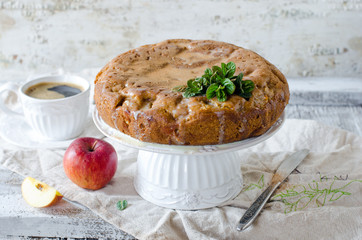 Apple cake with cinnamon