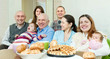 Portrait of happy tmultigeneration family