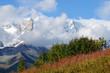 Mountain landscape in Upper Svaneti,Georgia,trekking route