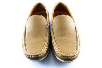 Men's classic leather brow shoes