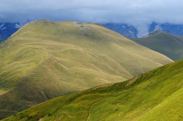 Mountains in Upper Svaneti, zone of alpine meadows,Georgia