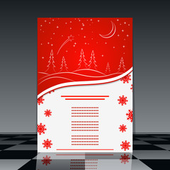 Christmas flyer vector template