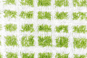 background of green towel. close-up