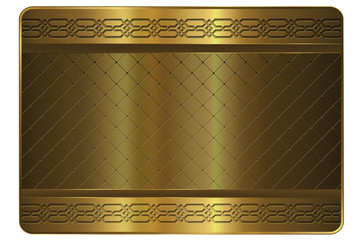 Gold card template.