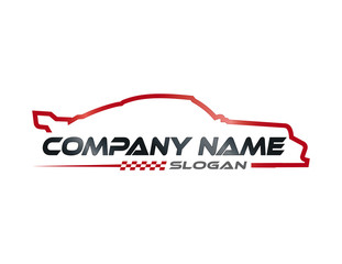 Racing car symbol