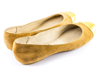 Brown and Gold Shoes