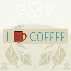 I love coffee greeting card banner.
