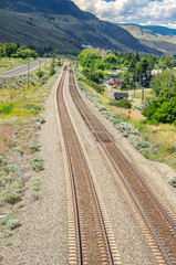 Railway Tracks in a Mountain Landscape