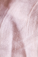 Macro Light natural  Flax Cloth